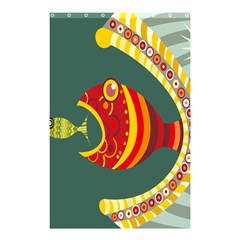 Fish Predator Sea Water Beach Monster Shower Curtain 48  X 72  (small)  by Mariart
