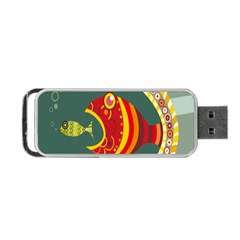 Fish Predator Sea Water Beach Monster Portable Usb Flash (two Sides) by Mariart