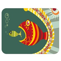 Fish Predator Sea Water Beach Monster Double Sided Flano Blanket (medium)  by Mariart