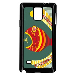 Fish Predator Sea Water Beach Monster Samsung Galaxy Note 4 Case (black)