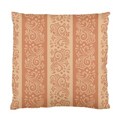 Flower Floral Leaf Frame Star Brown Standard Cushion Case (one Side) by Mariart