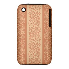 Flower Floral Leaf Frame Star Brown Iphone 3s/3gs by Mariart