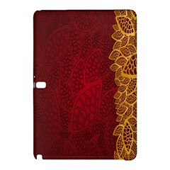 Floral Flower Golden Red Leaf Samsung Galaxy Tab Pro 12 2 Hardshell Case by Mariart