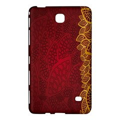 Floral Flower Golden Red Leaf Samsung Galaxy Tab 4 (8 ) Hardshell Case  by Mariart
