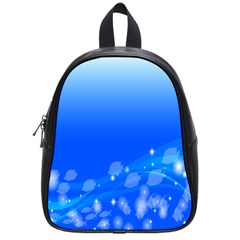 Fish Swim Blue Water Swea Beach Star Wave Chevron School Bags (small)  by Mariart