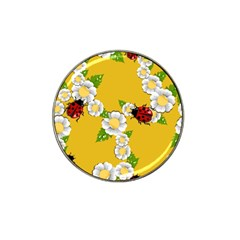 Flower Floral Sunflower Butterfly Red Yellow White Green Leaf Hat Clip Ball Marker by Mariart