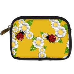 Flower Floral Sunflower Butterfly Red Yellow White Green Leaf Digital Camera Cases by Mariart