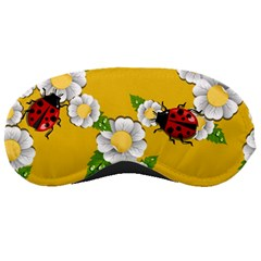 Flower Floral Sunflower Butterfly Red Yellow White Green Leaf Sleeping Masks by Mariart
