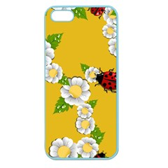 Flower Floral Sunflower Butterfly Red Yellow White Green Leaf Apple Seamless Iphone 5 Case (color) by Mariart