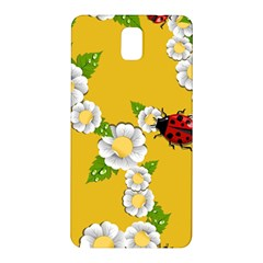 Flower Floral Sunflower Butterfly Red Yellow White Green Leaf Samsung Galaxy Note 3 N9005 Hardshell Back Case by Mariart