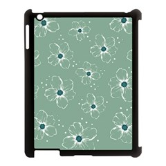 Flower Floral Sakura Sunflower Rose Blue Apple Ipad 3/4 Case (black) by Mariart