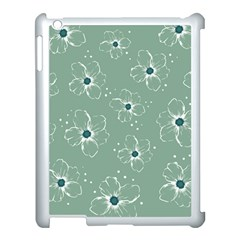 Flower Floral Sakura Sunflower Rose Blue Apple Ipad 3/4 Case (white) by Mariart