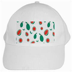 Fruit Green Red Guavas Leaf White Cap by Mariart