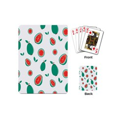 Fruit Green Red Guavas Leaf Playing Cards (mini)  by Mariart