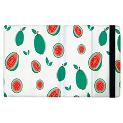Fruit Green Red Guavas Leaf Apple Ipad 2 Flip Case by Mariart