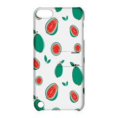 Fruit Green Red Guavas Leaf Apple Ipod Touch 5 Hardshell Case With Stand by Mariart