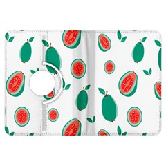 Fruit Green Red Guavas Leaf Kindle Fire Hdx Flip 360 Case by Mariart