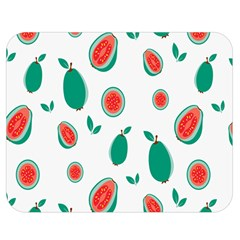 Fruit Green Red Guavas Leaf Double Sided Flano Blanket (medium)  by Mariart