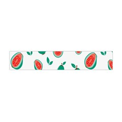 Fruit Green Red Guavas Leaf Flano Scarf (mini) by Mariart