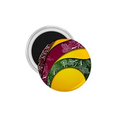 Flower Floral Leaf Star Sunflower Green Red Yellow Brown Sexxy 1 75  Magnets by Mariart