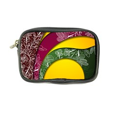 Flower Floral Leaf Star Sunflower Green Red Yellow Brown Sexxy Coin Purse by Mariart