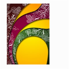 Flower Floral Leaf Star Sunflower Green Red Yellow Brown Sexxy Large Garden Flag (two Sides) by Mariart