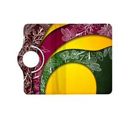 Flower Floral Leaf Star Sunflower Green Red Yellow Brown Sexxy Kindle Fire Hd (2013) Flip 360 Case by Mariart