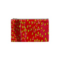 Fruit Seed Strawberries Red Yellow Frees Cosmetic Bag (small)  by Mariart