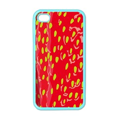 Fruit Seed Strawberries Red Yellow Frees Apple Iphone 4 Case (color) by Mariart