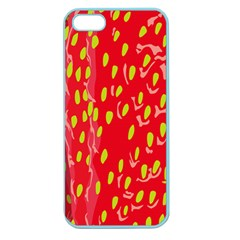 Fruit Seed Strawberries Red Yellow Frees Apple Seamless Iphone 5 Case (color) by Mariart