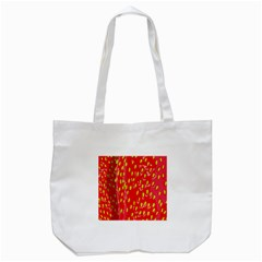 Fruit Seed Strawberries Red Yellow Frees Tote Bag (white) by Mariart