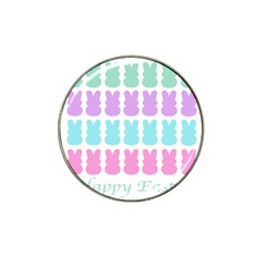 Happy Easter Rabbit Color Green Purple Blue Pink Hat Clip Ball Marker (4 Pack) by Mariart