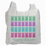 Happy Easter Rabbit Color Green Purple Blue Pink Recycle Bag (One Side) Front
