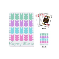 Happy Easter Rabbit Color Green Purple Blue Pink Playing Cards (mini)  by Mariart