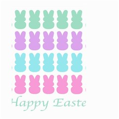 Happy Easter Rabbit Color Green Purple Blue Pink Small Garden Flag (two Sides) by Mariart