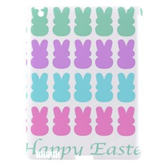 Happy Easter Rabbit Color Green Purple Blue Pink Apple Ipad 3/4 Hardshell Case (compatible With Smart Cover) by Mariart