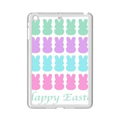 Happy Easter Rabbit Color Green Purple Blue Pink Ipad Mini 2 Enamel Coated Cases by Mariart