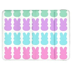 Happy Easter Rabbit Color Green Purple Blue Pink Samsung Galaxy Tab 7  P1000 Flip Case by Mariart