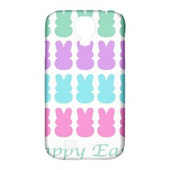 Happy Easter Rabbit Color Green Purple Blue Pink Samsung Galaxy S4 Classic Hardshell Case (pc+silicone) by Mariart