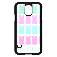 Happy Easter Rabbit Color Green Purple Blue Pink Samsung Galaxy S5 Case (black) by Mariart