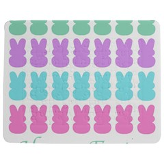 Happy Easter Rabbit Color Green Purple Blue Pink Jigsaw Puzzle Photo Stand (rectangular)