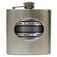 Iron Content Hole Mix Polka Dot Circle Silver Hip Flask (6 Oz) by Mariart