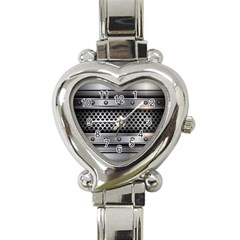 Iron Content Hole Mix Polka Dot Circle Silver Heart Italian Charm Watch by Mariart