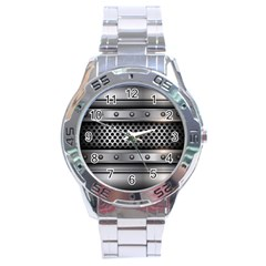 Iron Content Hole Mix Polka Dot Circle Silver Stainless Steel Analogue Watch by Mariart