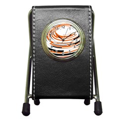Hole Black Orange Arrow Pen Holder Desk Clocks by Mariart