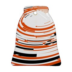 Hole Black Orange Arrow Bell Ornament (two Sides) by Mariart