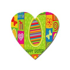 Happy Easter Butterfly Love Flower Floral Color Rainbow Heart Magnet by Mariart