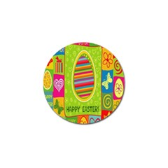 Happy Easter Butterfly Love Flower Floral Color Rainbow Golf Ball Marker (10 Pack) by Mariart