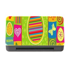 Happy Easter Butterfly Love Flower Floral Color Rainbow Memory Card Reader With Cf by Mariart