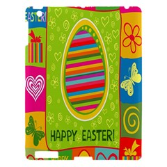 Happy Easter Butterfly Love Flower Floral Color Rainbow Apple Ipad 3/4 Hardshell Case by Mariart